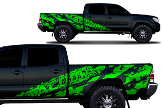 Toyota Tacoma 2005-2015 Long Bed Custom Half Side Decal Truck Wrap 4 Door