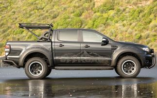 4 Mountain Off-Road Hood Decal Sticker Graphic kit For Ford Ranger