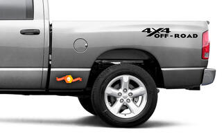 4x4 Off Road Aftermarket Bedside Vinyl Decals Dodge
