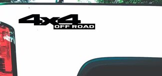 4 x 4 Off Road Vinyl Bedside Decals Dodge Style - 17
