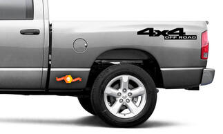 4x4 Off Road Vinyl Bedside Decals Dodge Style