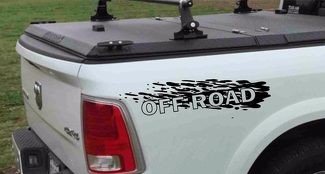 Set of 2 decals Off Road for 4x4 4wd DODGE RAM 1500 2500 3500 DAKOTA DURANGO