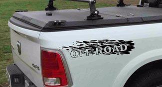 Set mit 2 Abziehbildern Off Road für 4x4 4WD DODGE RAM 1500 2500 3500 DAKOTA DURANGO