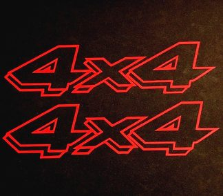 2 any color 4X4 Off Road Decals Sticker 4WD Truck Ford Chevy Dodge Toyota GMC Logo