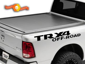 2X Dodge TRX 4 OFF ROAD DECAL RAM 1500 2500 Side graphics vinyl body stickers
