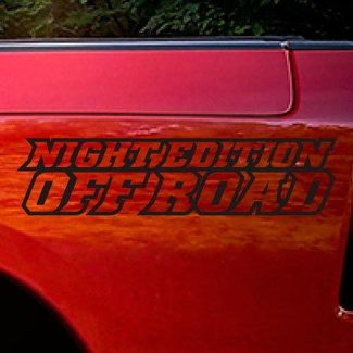 Dodge Ram Rebel Night Edition Side Truck Vinyl Decal Graphic Off Road Pickup