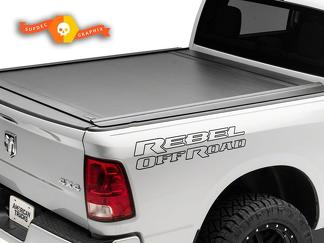 Dodge Ram Rebel Logo Side Outline Flare Truck Vinyl Decal Graphic Off Road Bed Pickup