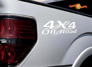 4x4 OFF ROAD Reifenbahn Aufkleber Aufkleber LKW TRD Tacoma Jeep Dodge Chevy Ford Wht