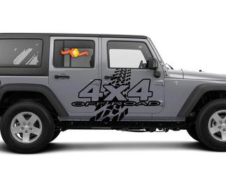 4X4 OFF-ROAD Mud Tires Decal Sticker fit Nissan Titan Frontier Toyota Tacoma FJ Jeep