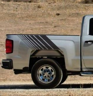 Chevrolet Silverado Hash Marks Back Stripe Vinyl Decal Truck Z71 4x4 Off road