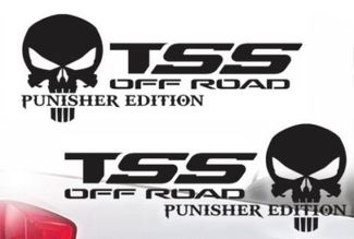 Toyota TSS Truck Off-Road Racing Tacoma Tundra The Punisher Decal Vinyl Decals