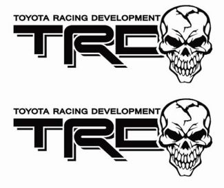 Toyota TRD Truck Off-Road Racing Tacoma Tundra Skull Pair Decals Sticker Decal