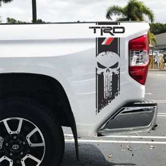 TRD Tundra Punisher Racing Decals Vinyl Sticker Decal Toyota sport off road 4x4