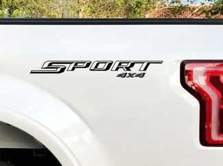 Ford F150 Sport 4X4 Stickers Bedside Decal 2015 2016 2 Decals Vinyl Cut Sticker
