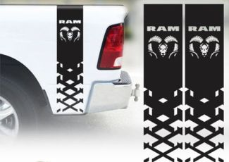 Dodge Ram 1500 2500 3500 Hemi 4x4 Decal Truck Bed Stripe Vinyl Sticker Racing 1b