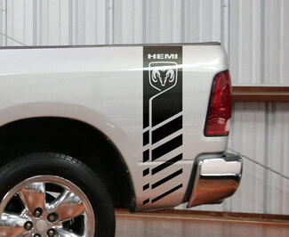 Dodge Ram 1500 2500 3500 Hemi 4x4 Decal Truck Bed Stripe Vinyl Sticker Racing D5