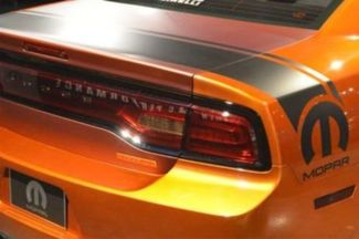 Dodge Charger Rear Bed and Trunk Vinyl Stripe Decal, Hemi Mopar Graphics RT SRT