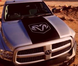Dodge Ram 1500 Hemi Logo Hood Vinyl decal, racing stripe, Mopar Graphics 5.7L Rt