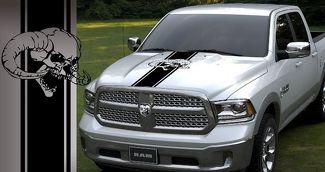 LKW Vinyl Motorhaube Aufkleber Dodge Ram 5,7 l Mopar Hemi Schädel Streifen Logo Auto Graphics