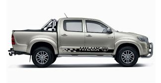 2X TOYOTA HILUX side stripes vinyl body decal sticker graphics premium quality