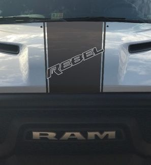 Dodge Ram Rebel Hemi 5.7 L vinyl decal sticker hood racing stripe, factory style
