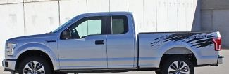 2015-2018 Ford F150 Graphics ROUTE RIP Bedside Stripe Vinyl Decal Any Colour Pro Install