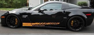 Side Stripe Decal Graphic Sticker Kit Scharged Chevy Corvette Z06 C6 2005-2013