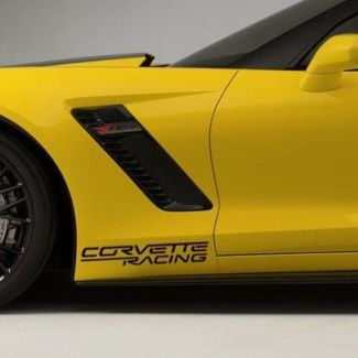 2 Chevy Corvette Racing Decals Stickers Stingray z06 Grand Sport