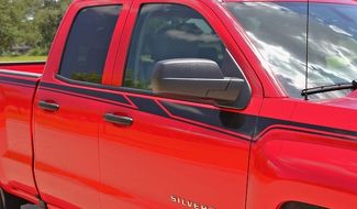 ACCELERATOR Side Door Accent Any Colour Stripe Vinyl Graphic 2014-2017 Chevy Silverado