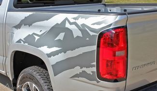 ANTERO Truck Bed Mountain Chevy Colorado Vinyl Graphic Decals Stripe 2015-2016