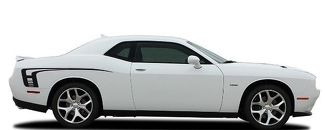 Hood Side Stripe CUDA STROBE Decal Vinyl Graphic 2008-2017 2018 Dodge Challenger