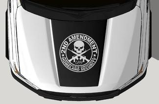 FORD F-150 (2015-2017) VINYL HOOD DECAL WRAP KIT - 2ND AMENDMENT