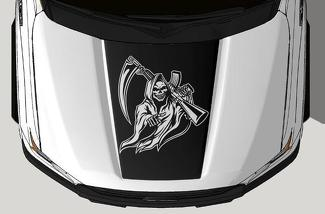 FORD F-150 (2015-2017) VINYL HOOD DECAL WRAP KIT - REAPER