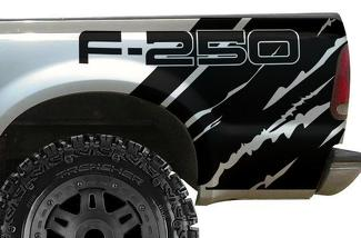 FORD F-250 (1999-2006) CUSTOM VINYL DECAL WRAP KIT - F-250 QUARTER