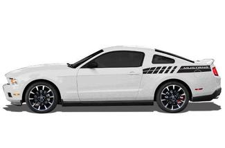 FORD MUSTANG (2010-2014) CUSTOM VINYL DECAL WRAP KIT - MUSTANG REAR DOUBLE STRIPE