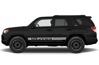 TOYOTA 4RUNNER (2010-2017) CUSTOM VINYL DECAL WRAP KIT - 4RUNNER STRIPE