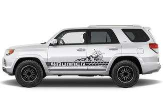 TOYOTA 4RUNNER (2010-2017) CUSTOM VINYL DECAL WRAP KIT - MOUNTAIN STRIPE