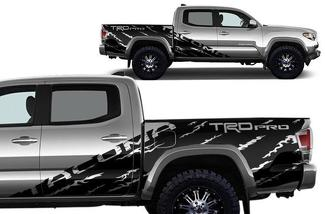TOYOTA Tacoma (2016-2020) Side Vinyl Decal Wrap Kit TRD Pro Sport Off Road