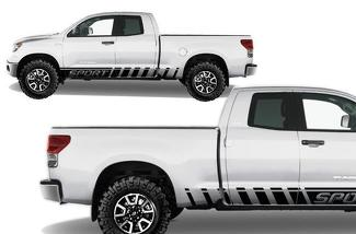 TOYOTA TUNDRA (2007-2013) CUSTOM VINYL DECAL WRAP KIT - SPORT ROCKER