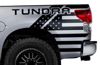 TOYOTA TUNDRA (2007-2013) CUSTOM VINYL DECAL WRAP KIT - TUNDRA USA