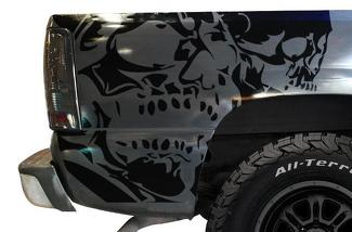 CHEVROLET SILVERADO 1999-2007 CUSTOM VINYL DECAL WRAP KIT - DOUBLE SKULL