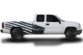 CHEVROLET SILVERADO 1999-2007 CUSTOM VINYL DECAL WRAP KIT - PATRIOT