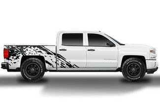 CHEVY SILVERADO (2014-2017) CUSTOM VINYL DECAL WRAP KIT - BURST