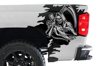 CHEVY SILVERADO (2014-2017) CUSTOM VINYL DECAL WRAP KIT - REAPER