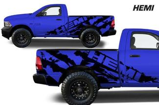 DODGE RAM 1500/2500/3500 (2009-2018) 5.7 BED CUSTOM VINYL DECAL KIT - HEMI SHRED