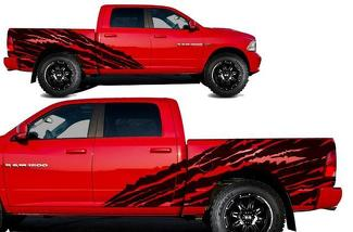 DODGE RAM 1500/2500 (2009-2018) 5.7 BED CUSTOM VINYL DECAL KIT - HALFSIDE TORN