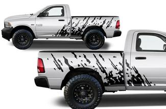 DODGE RAM 1500/2500/3500 (2009-2018) 6.5 BED CUSTOM VINYL DECAL KIT - SPLASH