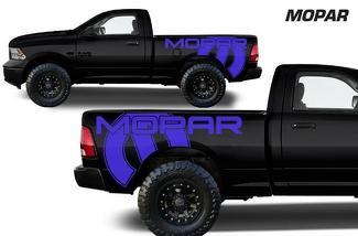 DODGE RAM 1500/2500/3500 6.5 BED (2009-2018) CUSTOM VINYL DECAL KIT - MOPAR SIDES