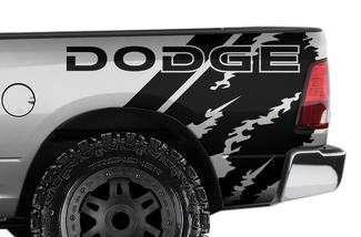 DODGE RAM 1500/2500/3500 (2009-2018) 6.5 BED CUSTOM VINYL DECAL WRAP KIT - DODGE QUARTER