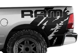 DODGE RAM 1500/2500/3500 (2009-2018) 6.5 BED CUSTOM VINYL DECAL WRAP KIT - RAM QUARTER